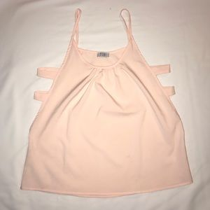 Pink, cut out Tank Top